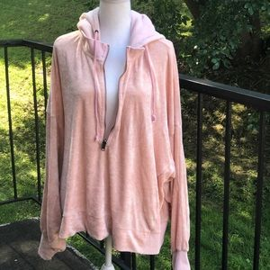 Free People I'm Sure It's Velour Hoodie Size Large